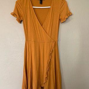 Forever 21 Mustard short-sleeve Sundress